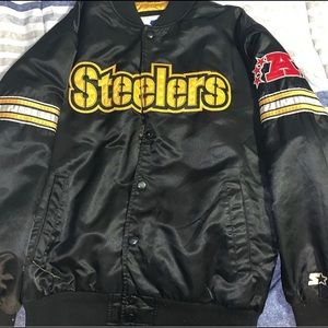 Pittsburgh Steelers Starter Jacket Coat snap down